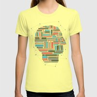 Socially Networked. Womens Fitted Tee Lemon SMALL