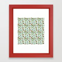 Dinosaurs & Leaves Framed Art Print
