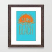 Sun of a Beach Framed Art Print