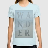 Wandering Womens Fitted Tee Light Blue SMALL