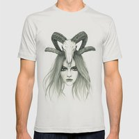 Zodiac - Aries Mens Fitted Tee Silver SMALL