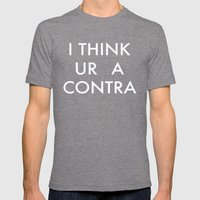 Ur A Contra Mens Fitted Tee Tri-Grey SMALL