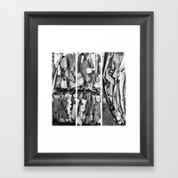 All Mixed Up Framed Art Print