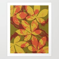 Art Print featuring Autumn Leaves by Ioana Luscov