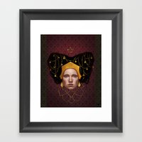 Gold Wire Framed Art Print