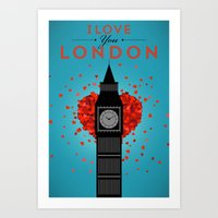 I Love You London Art Print