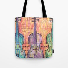 Violin, music to my ears Tote Bag