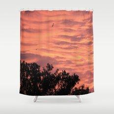 Burning Sunrise Shower Curtain