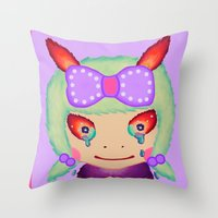 Sweet Girl Throw Pillow