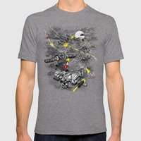 Dog Fight Mens Fitted Tee Tri-Grey SMALL