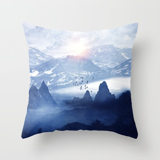Winter. Melody... Throw Pillow
