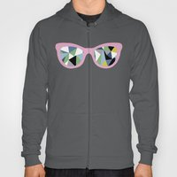 Abstract Eyes On Pink Hoody