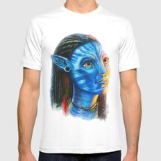 Avatar SMALL White Mens Fitted Tee