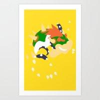 Mario - Bowser Art Print