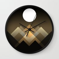 Path between hills Wall Clock