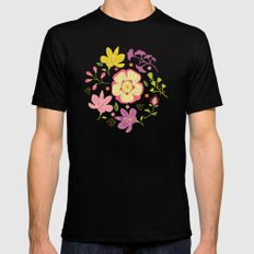 Oriental Blooms Mens Fitted Tee Black SMALL