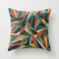 Sliced Fragments II Throw Pillow