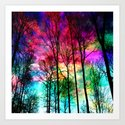 Colorful sky Art Print