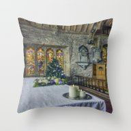 Candles At Christmas Throw Pillow