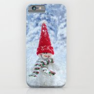 Red Cute Snowman Frozen … iPhone 6 Slim Case