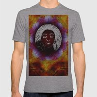 Breathe Kaleidoscope  Mens Fitted Tee Athletic Grey SMALL