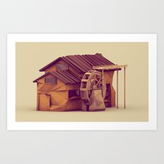 Watermill Art Print