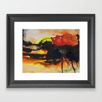 (falling) Tree Limbs Framed Art Print