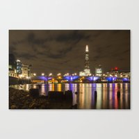 Night Shoot London Low Tide Canvas Print
