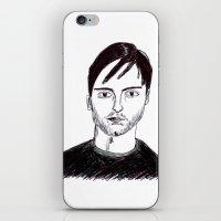 Biro Drawing Of Tobey Ma… iPhone & iPod Skin