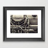 Jet Engine Mechanics Framed Art Print