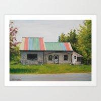 Rainbow Roof Art Print