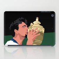 Goran Ivanisevic - Wimbledon trophy kiss iPad Case