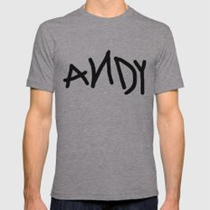 Andy Mens Fitted Tee Athletic Grey SMALL