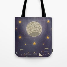 Sailing under the moon Tote Bag