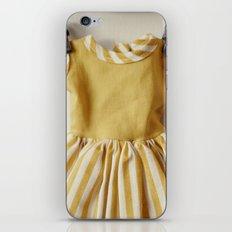Doll Closet Series - Mustard Stripe Dress iPhone & iPod Skin