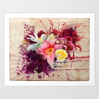 Country Floral Art Print