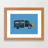 The Happy Toyz Van Framed Art Print