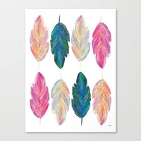 Feather Fully Canvas Print