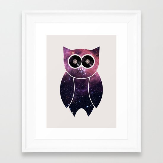 Owl Night Long Framed Art Print