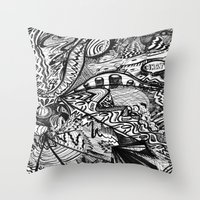 BLACK THOUGHTS  Throw Pillow