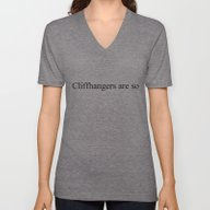 Unisex V-Neck featuring Cliffhangers Are So... by Bookwormboutique