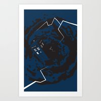 Tardis  - Doctor Who  Art Print