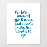 i've been around the teacup (blue) Canvas Print