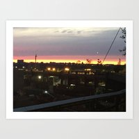 Sunset on the Highline Art Print