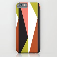 Pink, lime black triangle pattern (2015) iPhone 6s Slim Case