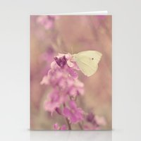 Lilac Butterfly Stationery Cards