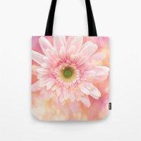 Shabby Chic Daisy Flower Tote Bag
