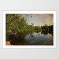 Concord River Art Print