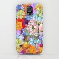 Rainbow Flower Shower Galaxy S5 Slim Case