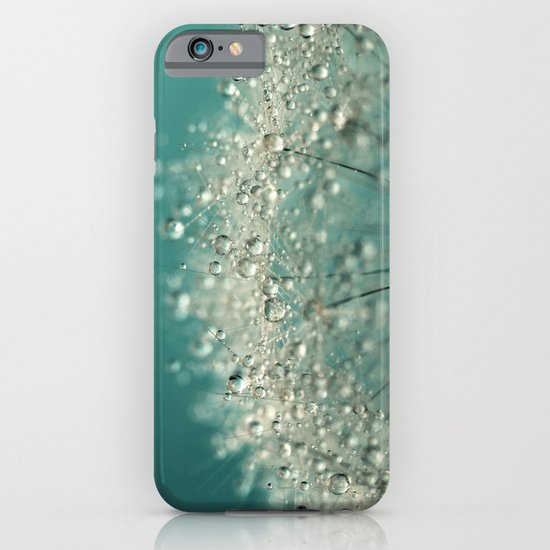 Cyan Sparkles iPhone & iPod Case